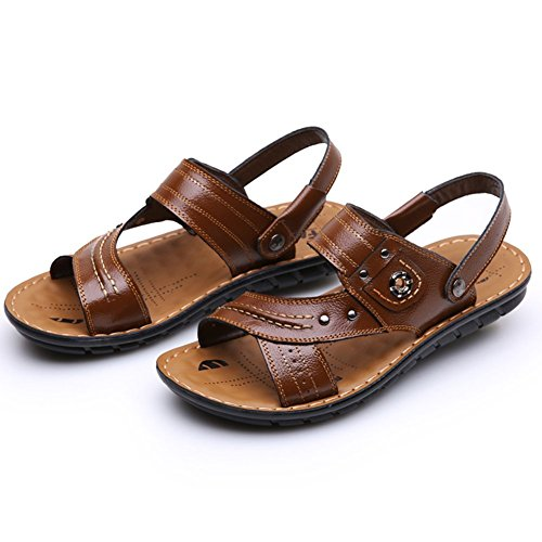 Keplia Cool Fashion Mens Sandals Summer Skidproof Sandels Brown Wta1K