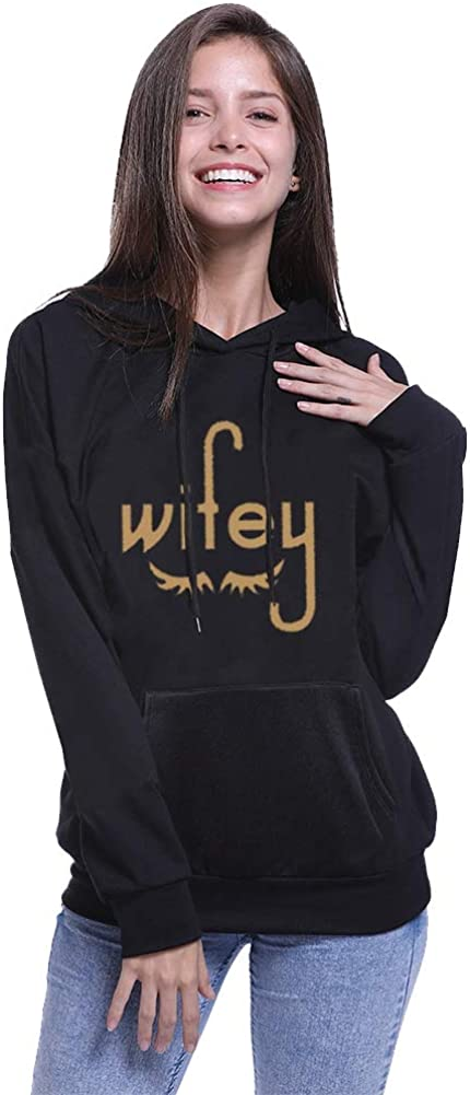 ZZhong Hubby /& Wifey Matching Couple Hoodie His /& Hers Sweatshirt Pullover