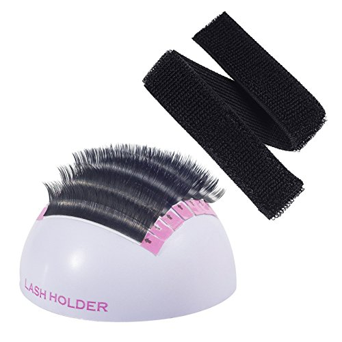 Beauty7 Large Volume Eyelash Extension Hemisphere Holder Stand Base With Hand Strip Wrap Pallet Kit Application Tool For False Lashes Eye Lash ()