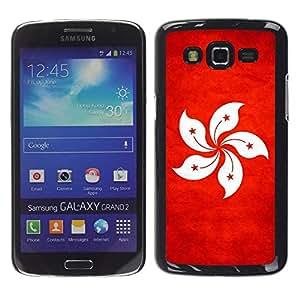 Be Good Phone Accessory // Dura Cáscara cubierta Protectora Caso Carcasa Funda de Protección para Samsung Galaxy Grand 2 SM-G7102 SM-G7105 // National Flag Nation Country Hong Kong