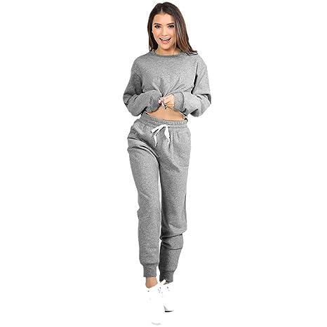 6ce679bc02e6f OVERDOSE,Femme Ensemble Pantalon Jogging et Sweatshirt Hiver Sportswear  Casual Tops Court: Amazon.fr: Vêtements et accessoires