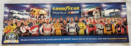 Goodyear Nascar 2014 Poster Original Limited Edition 60th Anniversary