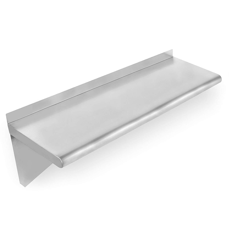 Hakka Commercial Stainless Steel Wall Mount Shelf-14''x84''Heavy Duty Solid Wall Shelfs