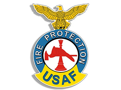 USAF FIRE PROTECTION Logo (air force firefighter insignia)