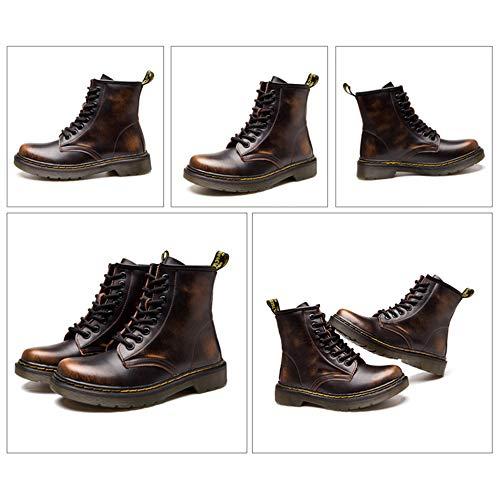 Warme Stiefel Leder Herbst Medium Für Rohr Schuhe Stiefel Gehen Winter Stiefeletten Einkaufen Paare Unisex Martin Echtes Kurze UPvwfvRq