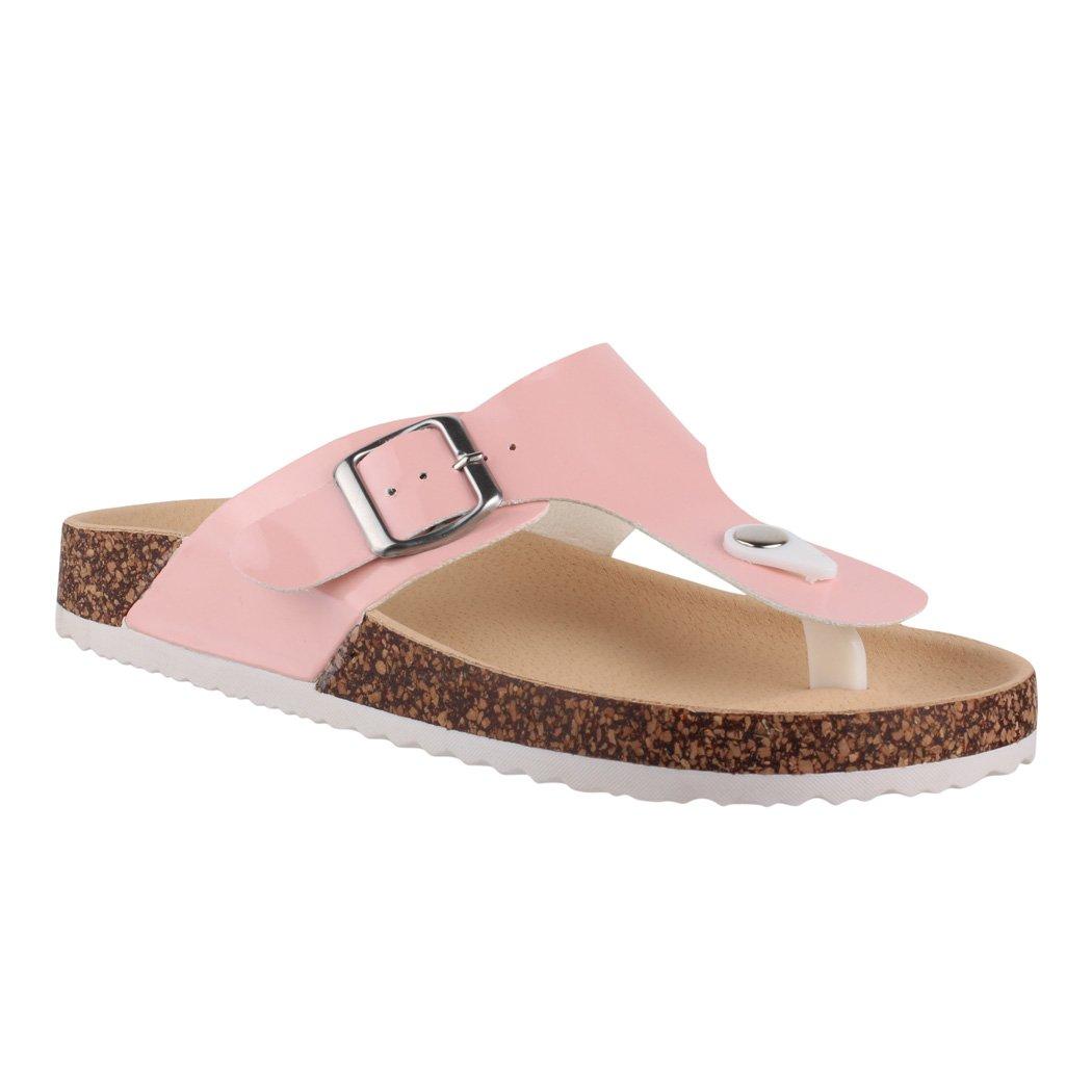 Elara Damen Sandalen | Bequeme Zehentrenner | Sandalette | Chunkyrayan  41 EU|Pink Paris