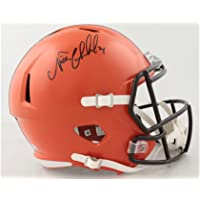 $199 » Nick Chubb Cleveland Browns Signed Autograph Full Size Speed Helmet JSA Witnessed Certified