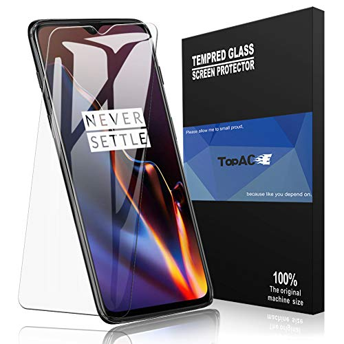 TopACE Bye-Bye-Bubble Premium Quality Full Screen Coverage 3D Anti-Scratch 9H Hardness Tempered Glass Screen Protector Film for OnePlus 6T (Clear)