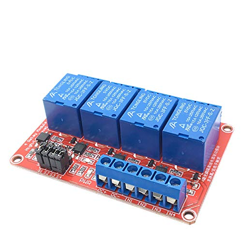 4 Channel DC 5V 12V Relay Module with Optocoupler Low Level Trigger Arduino