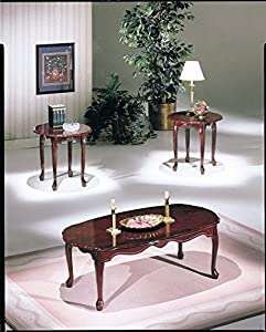 Amazoncom ACME 02402 Essex CoffeeEnd Table Set 3Piece Cherry