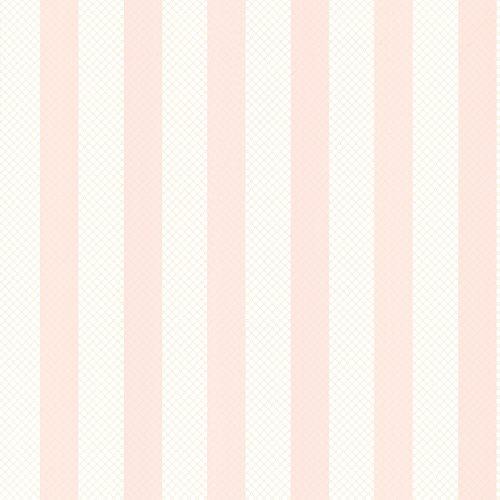Trellis Stripe - Brewster 2704-23208 Ditsy Pink Trellis Stripe Wallpaper