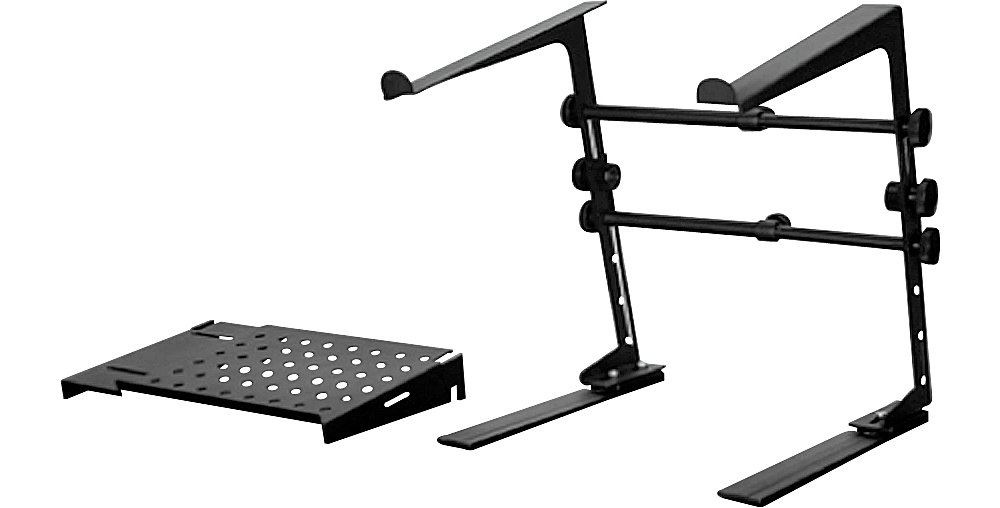 DR Pro DJ Laptop Stand and Shelf Bundle Black DS-01BK