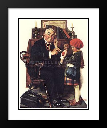 Norman Rockwell Framed and Double Matted Art 20x23