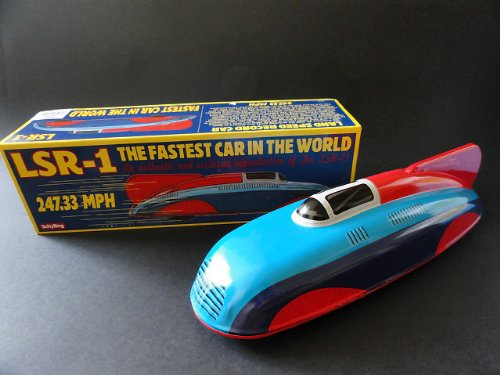 VINTAGE STYLE TINPLATE LSR-1 LAND SPEED RECORD CAR TIN TOY