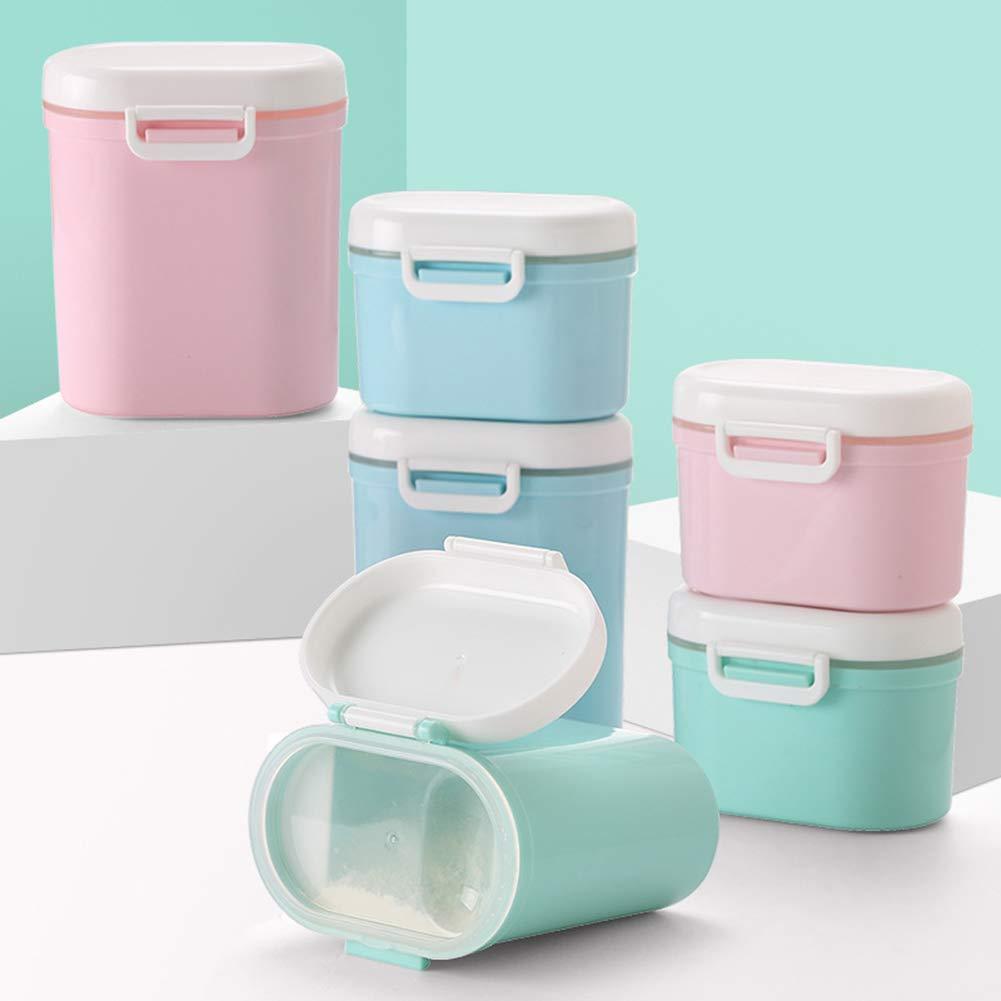 YUnnuopromi Bo/îte de rangement en poudre de lait pour b/éb/é avec compartiments /à farine Blue L