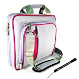 Kroo Purple and Pink Pin Carrying Case Optional Shoulder Strap For Asus Eee PC ( 1005HA PU1X- BK BU 1000HE VU1X BU BK 1008HA 1000HA PC 901 1002HA Seashell Pearl PC 900 1000H PC 904HA Atom N270 PC 4G 2G) 8.9 inch 10.1 inch Netbook Now with More Space, More Durable, Looks CooL + Includes a 4-inch Determination Hand Strap