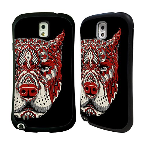 Official Bioworkz Pitbull 1 Coloured Canine 1 Hybrid Case for Samsung Galaxy Note 3