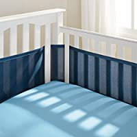 BreathableBaby Breathable Mesh Crib Liner, True Navy (Discontinued by Manufac...