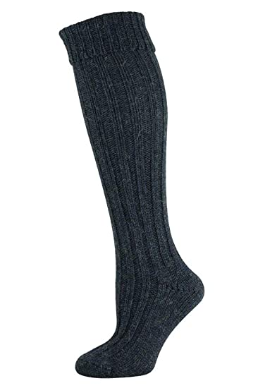 Mysocks® Calcetines de lana de oveja irlandesa Jacob de alta rodilla Hecho en irlanda: Amazon.es: Ropa y accesorios