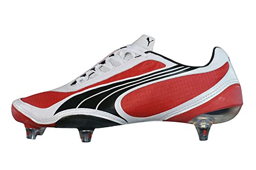 f45c548ecd9 Puma V1.08 SG Mens Football Boots Cleats - Red   White - SIZE UK 6.5 ...