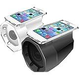 ライブ BOX 高音質 大迫力 サウンド コンポ 音楽 スマートフォン iPhone アイフォン 設定 不要 誰でも 簡単 スマホ 用 置くだけ スピーカー (ブラック)