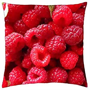 Raspberries - Throw Pillow Cover Case (18
