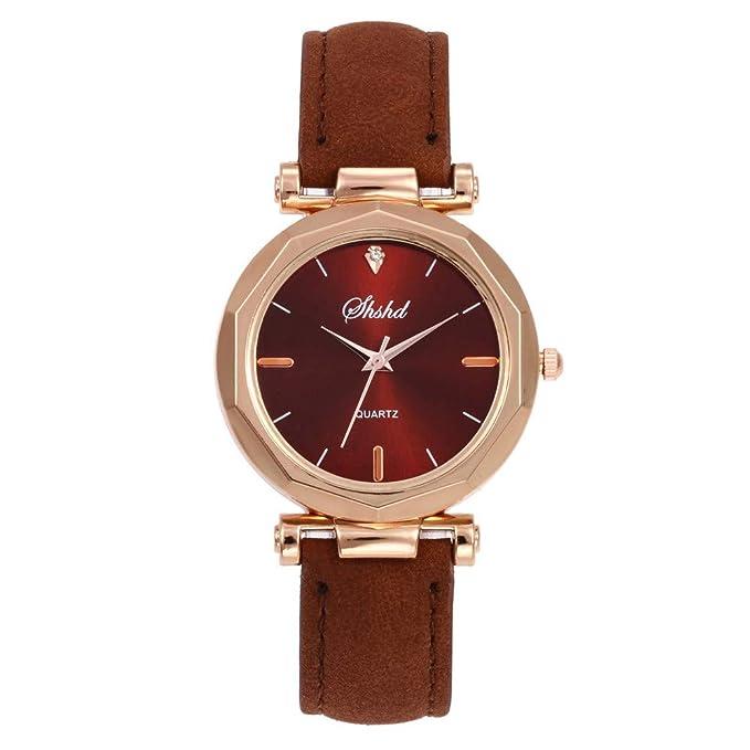BBestseller Moda Relojes para Mujer, Reloj con Correa de Silicona Geneva Accesorios Acero Pulsera de Malla (marrón): Amazon.es: Relojes