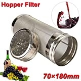 Mesh Stainless Steel Hop Filter Strainer 70x180mm Home Beer Wine Brew Pellet Hop Filter Filtering Brew Kettle Barware Tools Kangsanli