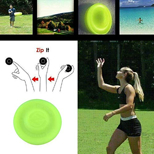 S WIDEN ELECTRIC Mini Pocket Flexible Flying Disc Silicone Flying Disk Soft Mini Frisbees for Kids Outdoor Beach Sports Toy New Spin in Catching Game Flying ()