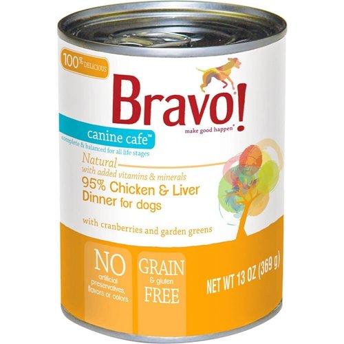 Bravo! Canine Cafe 95% Meat Dog Food Chicken 13oz 12Case