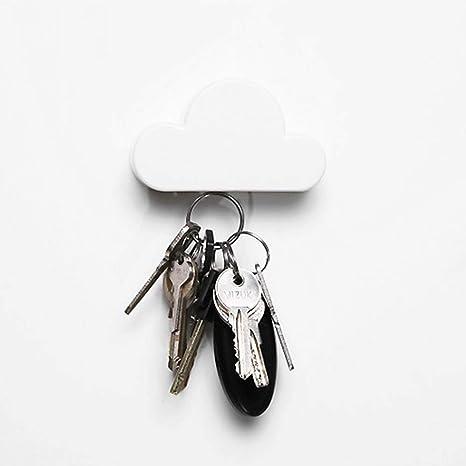 Ogquaton Novedad Nube Blanca Formas Llavero Magnético Salón Accesorios Decorativos de Pared Titular de Llaves para el Hogar Oficina Decoración de la ...