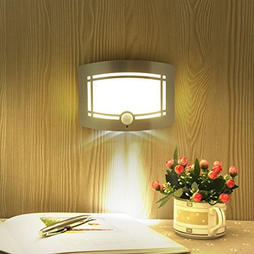 Fding LED Wall Light Light-operated Motion Sensor Nightlight Activated Battery Operated Wall Sconce by Fding (Image #3)