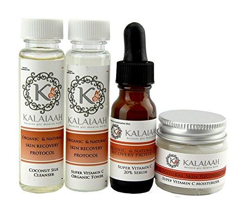 Cleanser Coconut Citrus - Vitamin C Age Defying Complexion Boost Gift Set 4 Step System - Coconut, Aloe & Citrus Face Wash, Glycolic Vitamin C Toner, Vitamin C 20% Serum, Vitamin C 15% MSM Moisturizer