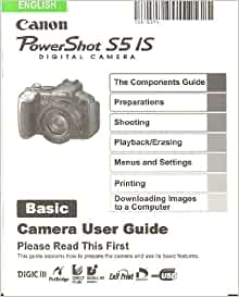canon powershot s5is user manual