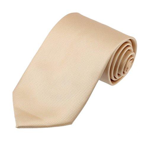 Tan Mens Tie - Dan Smith DAA3C01H Light Tan Necktie CheckeRed Microfiber Evening Tie Hallowmas Gift Idea