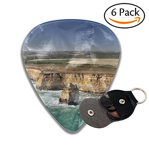 (Wxf Aerial View Of The Twelve Apostles At The Great Ocean Road In The Port Campbell National Park Stylish Celluloid Guitar Picks Plectrums For Guitar Bass .46mm 6 Pack)