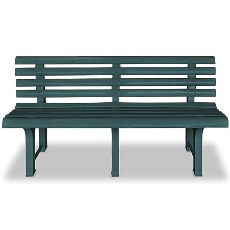 Terrific Festnight Plastic Garden Bench Seat 145 5X49X74 Cm Green Ibusinesslaw Wood Chair Design Ideas Ibusinesslaworg