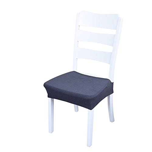 Chair Seat Covers,Sundlight 4PCS Polyester Fiber Spandex Stool Chairs Covers Dust-Proof and Waterproof Slipcover for Dining Room Patio Office Chair,Bar Stools (4PCS, Gray)