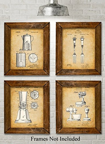 original-kitchen-patent-art-prints-set-of-four-photos-8x10-unframed-great-for-kitchen-decor