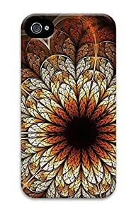 Digital Image Printed On the Single Back Cellphone Case Cover For iPhone 4 3D Hard Plastic Shell Skin For iPhone 4-Flower 43
