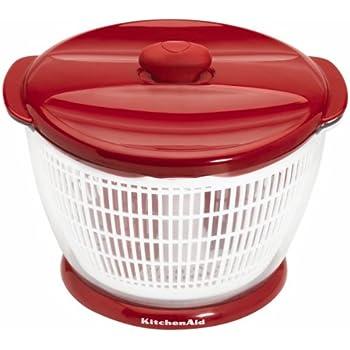 Amazon Com Kitchenaid Plastic Salad Spinner Red Red