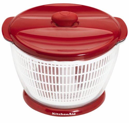 - KitchenAid Plastic Salad Spinner (Red)