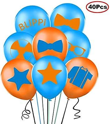 Amazon.com: Globos de Blippi de 40 unidades de 12 pulgadas ...