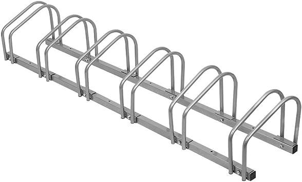 LARS360 Bicicleta Soporte para 6 bicicletas de suelo y pared ...