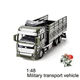 GZQ Baby Toy Friction Powered Pull Back Military Cars Trucks Toys for Boys Kids Girls Toddlers Party Favors Christmas Gift (Transporter Car)
