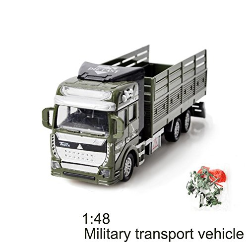 GZQ Baby Toy Friction Powered Pull Back Military Cars Trucks Toys for Boys Kids Girls Toddlers Party Favors Christmas Gift (Transporter Car) by GZQ