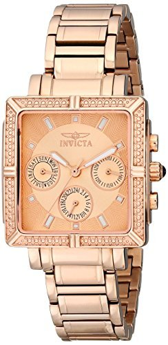 Invicta Women's 14872 Wildflower Rose Gold Dial 18k Rose Gold Ion-Plated Stainless Steel Watch ()