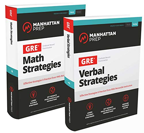 GRE Math & Verbal Strategies Set: Comprehensive Content Review & 6 Online Practice Tests from 99th Percentile Instructors (Manhattan Prep GRE Strategy Guides)