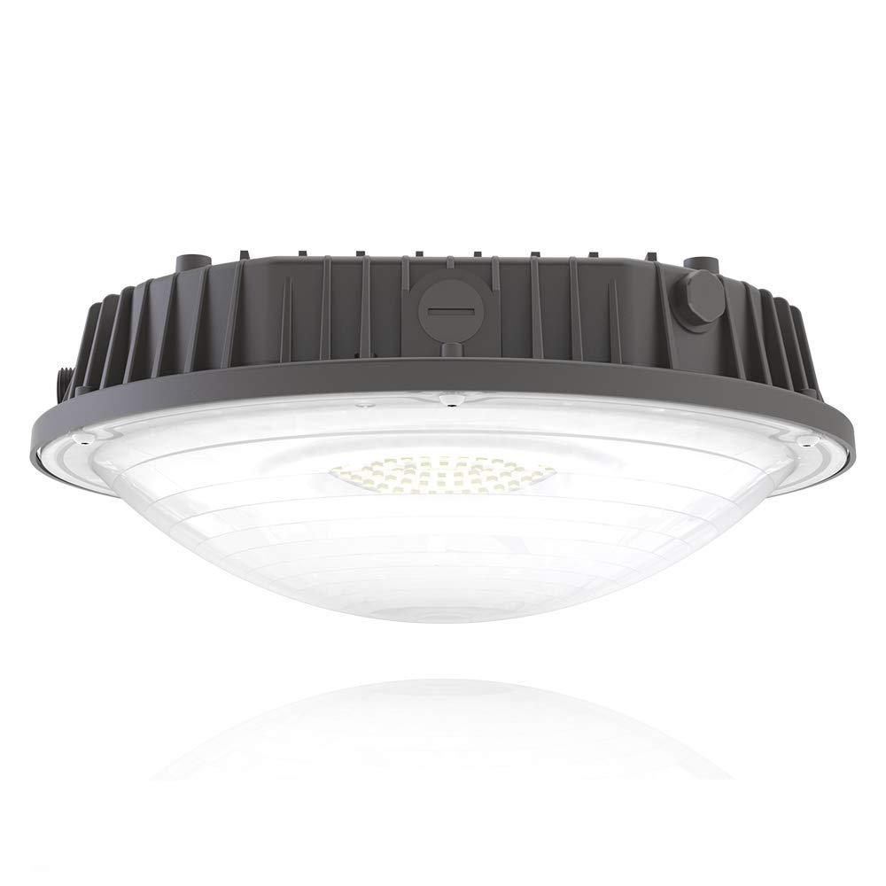 Hyperlite LED Canopy 60W 4000K 7,800lm 130LM/W,DLC UL Certified,Outdoor Area Waterproof Dustproof IP65 Lighting Lamp Easy Installation for Porch Backyard Awning BBQ Palapa 5-Year Warra, Daylight