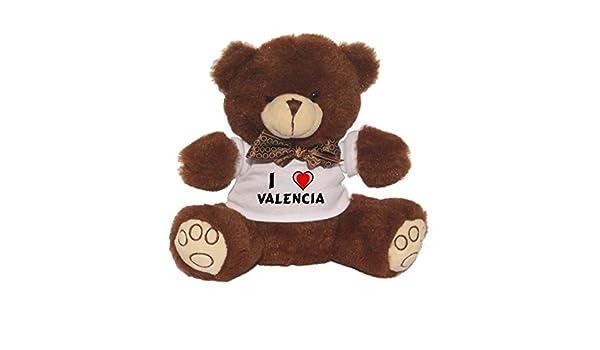 Oso de peluche con Amo Valencia en la camiseta (nombre de pila/apellido/apodo): Amazon.es: Juguetes y juegos